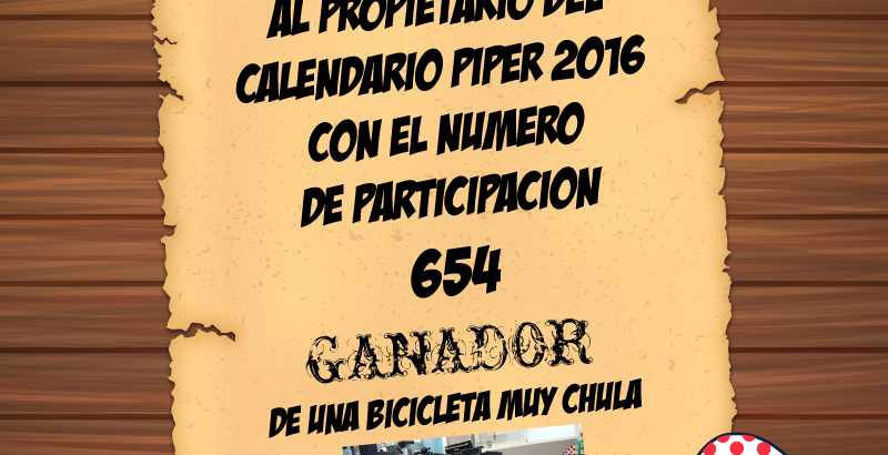 654 número ganador del sorteo de la Bici